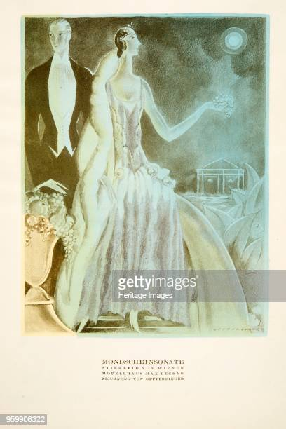 Mondscheinsonate dress styled by Wiener from Styl pub 1922 pochoir Print