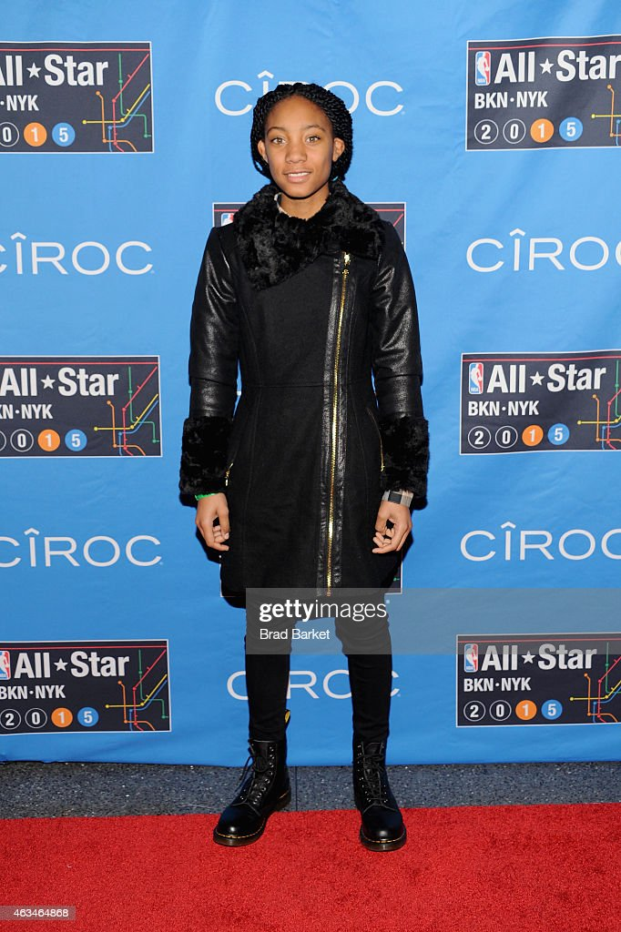 Mo'ne Davis attends State Farm All-Star Saturday Night - NBA All-Star Weekend 2015 at Barclays Center on February 14, 2015 in New York, New York.