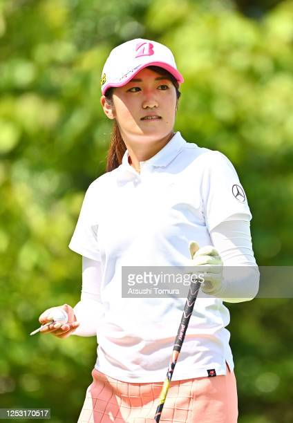 Mone Inami of Japan is seen on the 1st tee during the final round of the Earth Mondamin Cup at the Camellia Hills Country Club on June 29 2020 in...