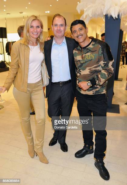 Monella Kaplan HOLA Chair Committee David Unger and Said Taghmaoui attend a Cocktail Event in support of HOLA Heart of Los Angeles hosted by Barneys...