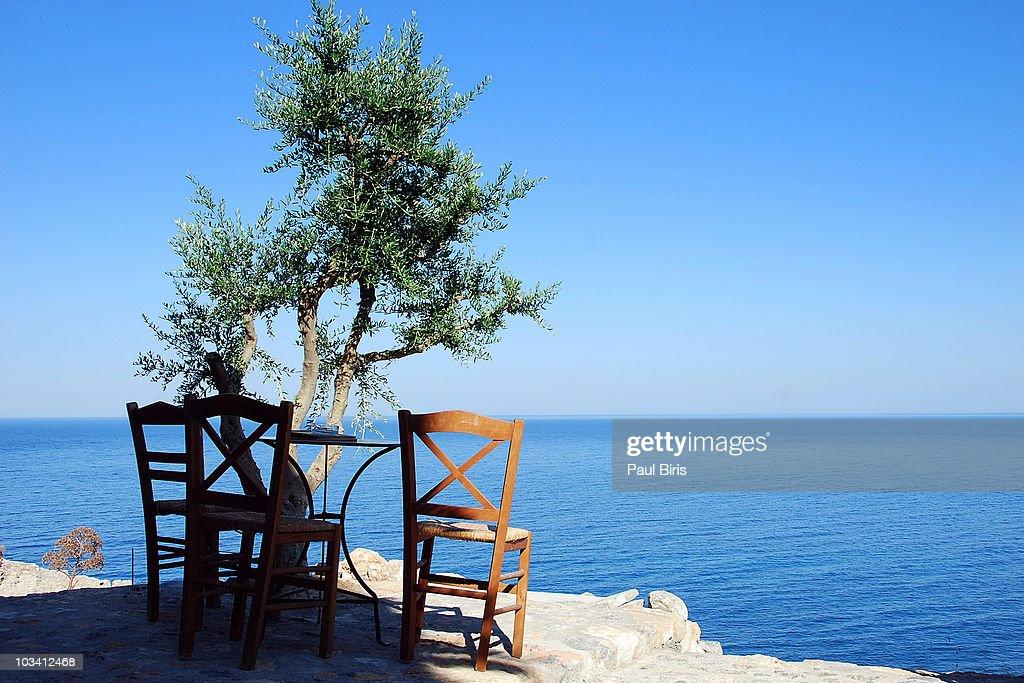 Monemvasia Time To Relax  Mediterranean Sea : Stock Photo