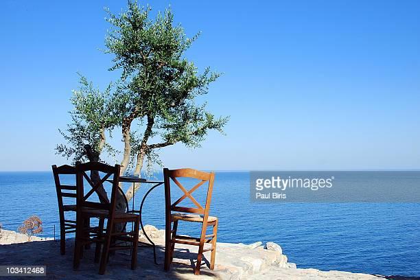 monemvasia time to relax  mediterranean sea - peloponnese stock photos and pictures