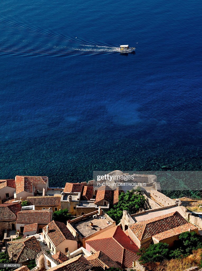 Monemvasia view from the castle 5 : Stock Photo