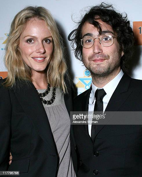 "Monet Mazur and Sean Lennon during 10 Cane Rum Sean Lennon Host ""Friendly Fire"" Release Party in Los Angeles California United States"