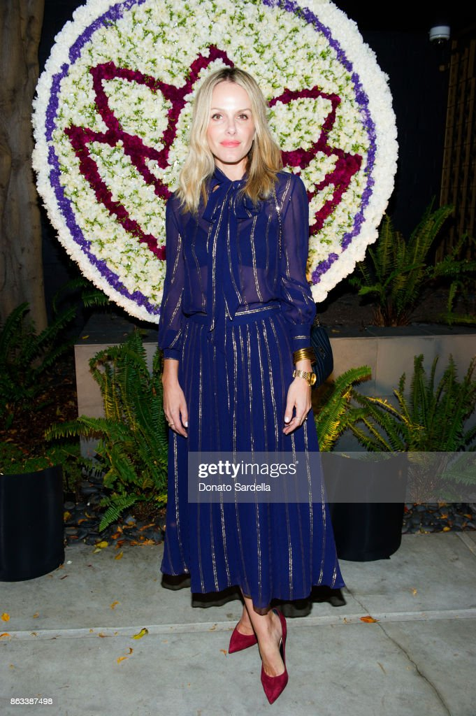 Monet Mazur at Living Beauty 'The Gift' Photo Exhibit at The Buterbaugh Gallery on October 19, 2017 in Los Angeles, California.