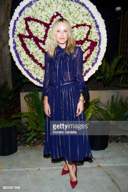 Monet Mazur at Living Beauty 'The Gift' Photo Exhibit at The Buterbaugh Gallery on October 19 2017 in Los Angeles California