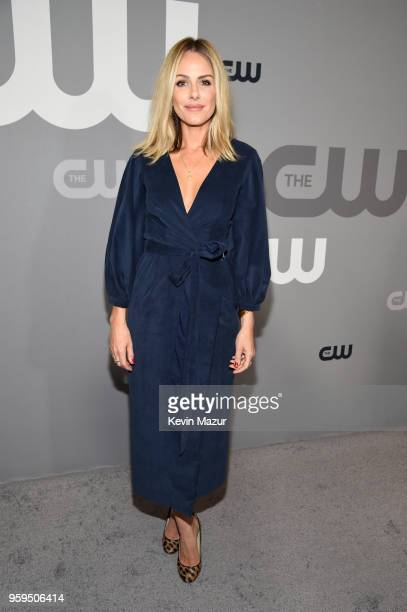 Monet Mazur attends The CW Network's 2018 upfront at The London Hotel on May 17 2018 in New York City