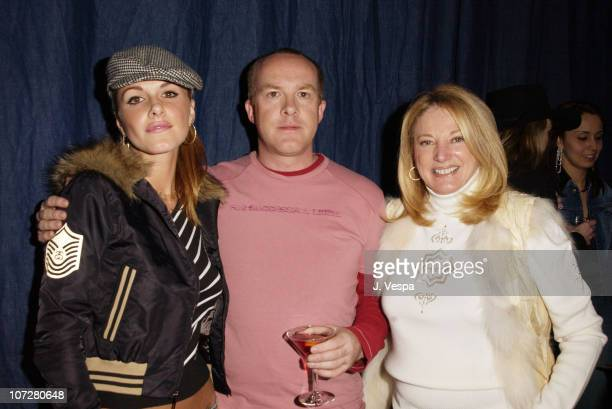 Monet Mazur, Cassian Elwes, & Joan Parker during 2002 Sundance Film Festival - William Morris Party hosted by Diesel Jeans, A Diamond is Forever and...