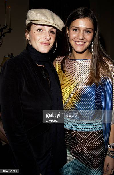 Monet Mazur & Margherita Missoni during Angela Missoni hosts Private Champagne Brunch and Preview of Special Evening Collection for Academy Awards...