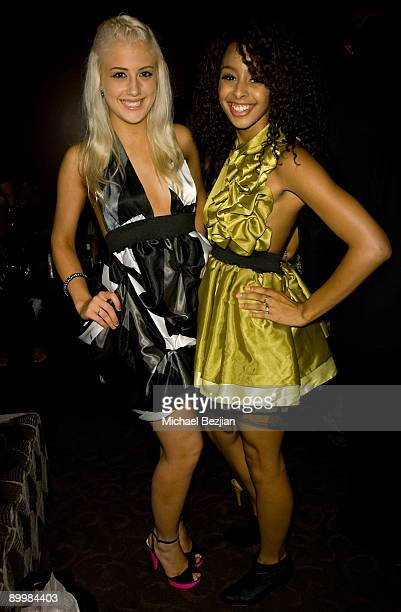Monet Monico and Marissa Shipp attends the FIDM Screening Of Project Runway at the Provecho Restaurant Remedy Lounge on August 20 2009 in Los Angeles...