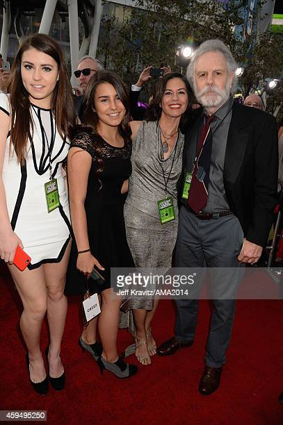 Monet Weir Chloe Weir Natascha Weir and musician Bob Weir of the Grateful Dead attend the 2014 American Music Awards at Nokia Theatre LA Live on...