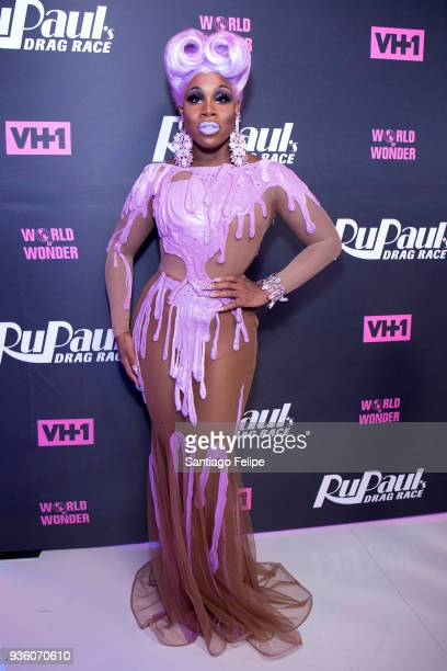 Monet X Change attends 'RuPaul's Drag Race' Season 10 Meet The Queens at TRL Studios on March 21 2018 in New York City