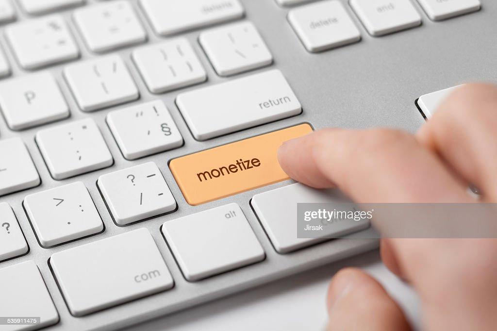 Rentabilizar en línea : Foto de stock