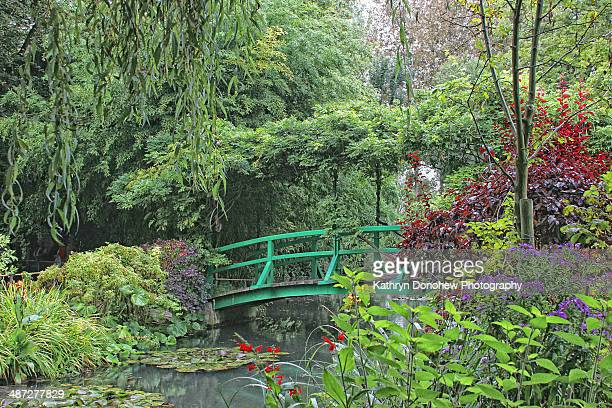 monet's garden - claude monet stock pictures, royalty-free photos & images