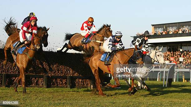 Monet's Garden ridden by D J Condon right on his way to victory over Snoopy Loopy ridden by S E Durack during the totesportcom Peterborough Chase at...