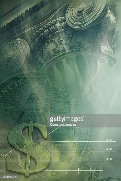 Money and economics , digital composite