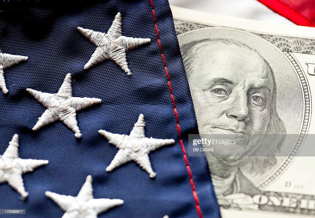 Money and Flag : Stock Photo