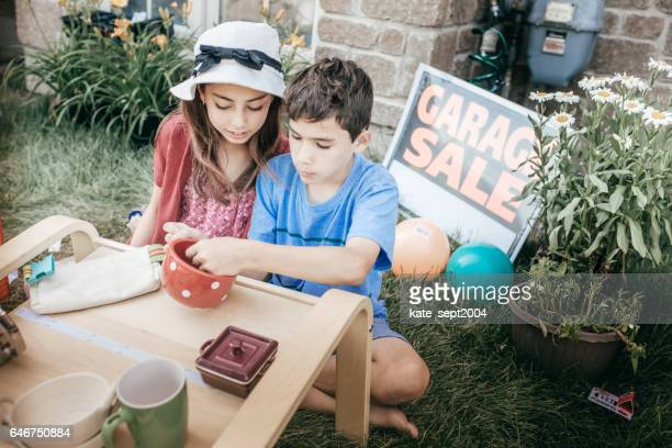 money and kids - garage sale stock pictures, royalty-free photos & images