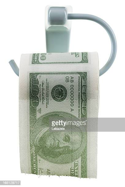 money as toilet paper - funny toilet paper stock pictures, royalty-free photos & images