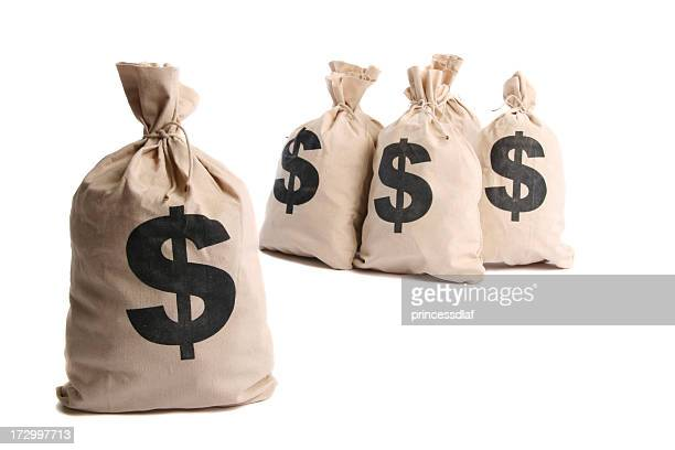 money bags - money bag stock pictures, royalty-free photos & images