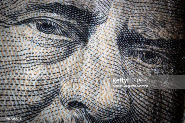 money: close-up of ulysses s. grant's portrait on the 50 us dollar bank note - ulysses s grant stock pictures, royalty-free photos & images