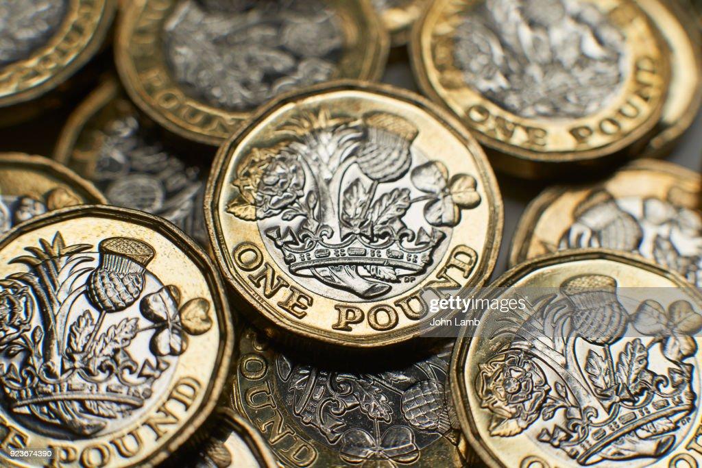 UK Money close-up. : Stock Photo