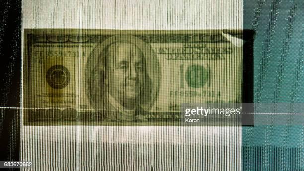 Money - digital currency with a glitch