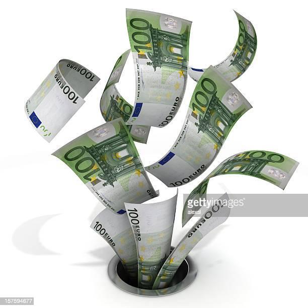 Money Down the Drain-englische Redewendung