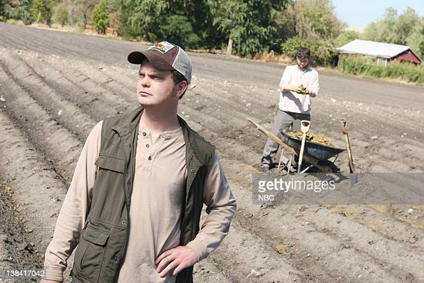 THE OFFICE 'Money' Episode 4 Aired Pictured Rainn Wilson as Dwight Schrute and Michael Schur as Mose