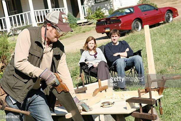 THE OFFICE Money Episode 4 Aired Pictured Rainn Wilson as Dwight Schrute Jenna Fischer as Pam Beesly and John Krasinski as Jim Halpert