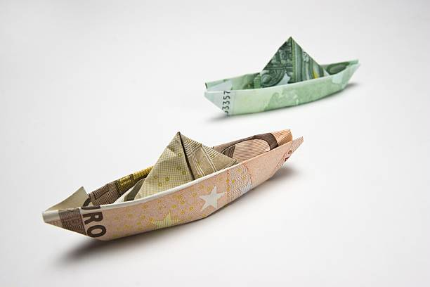 Money Euro Banknotes Folded Like Paper Boats Pictures Getty Images