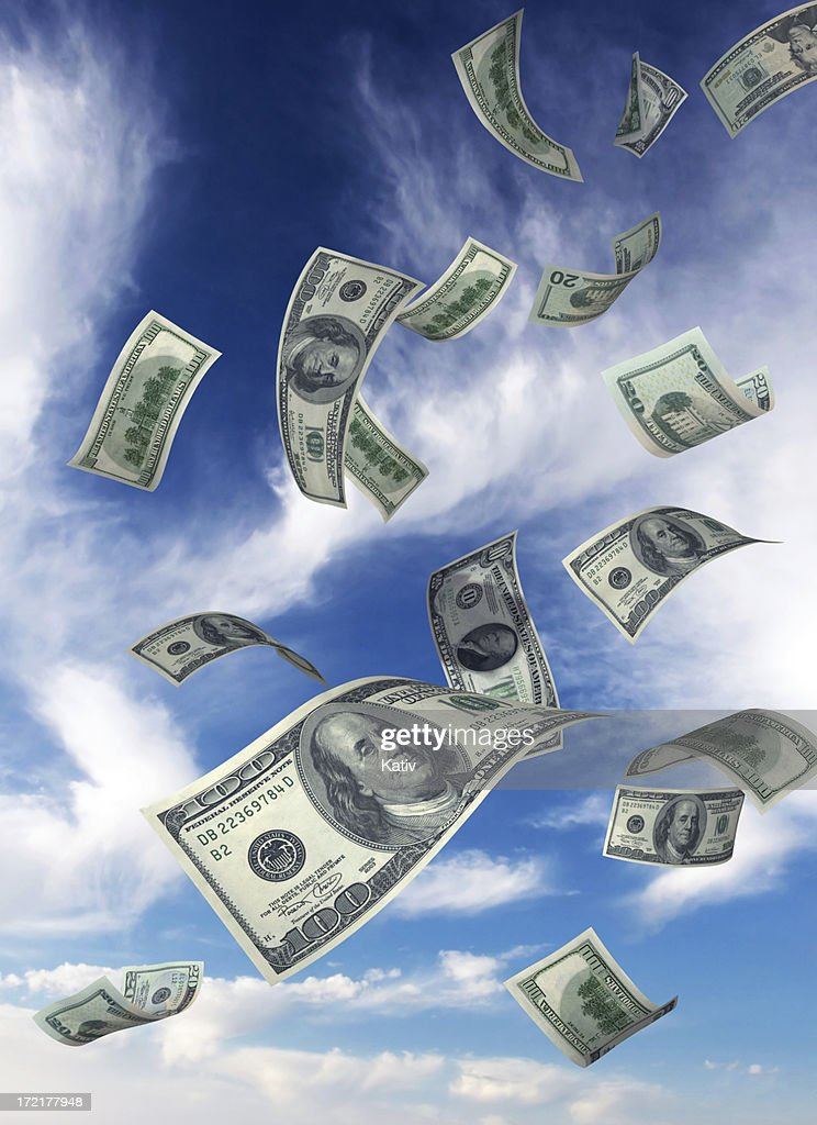 Money Falling from Sky(XXL) : Stock Photo