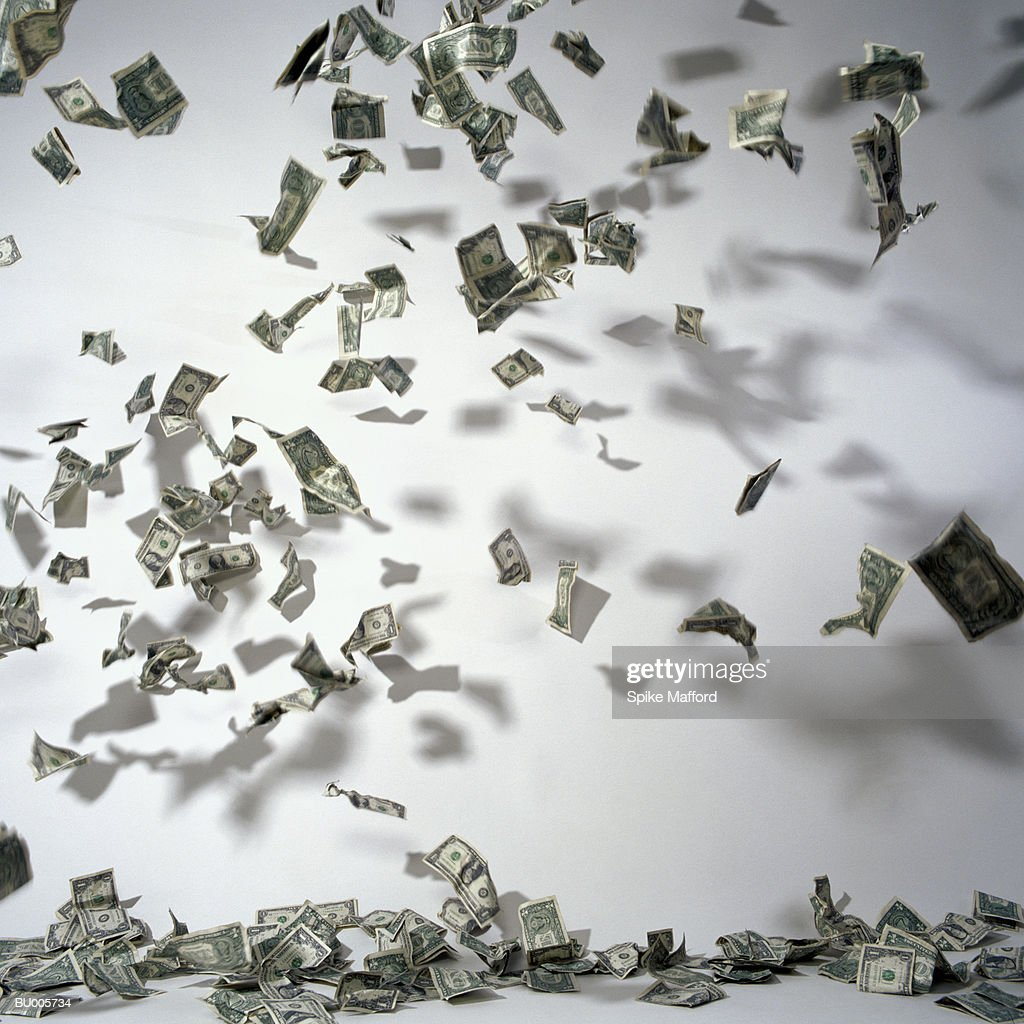 Money Falling Out of the Sky : Stock Photo