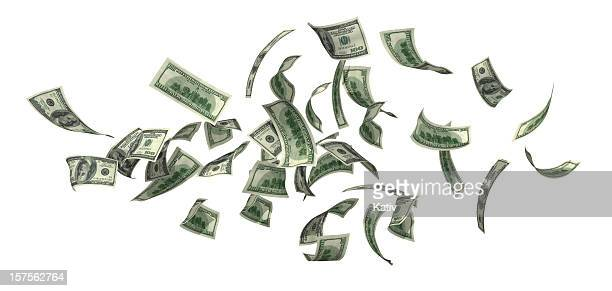 money falling - jackpot stock pictures, royalty-free photos & images