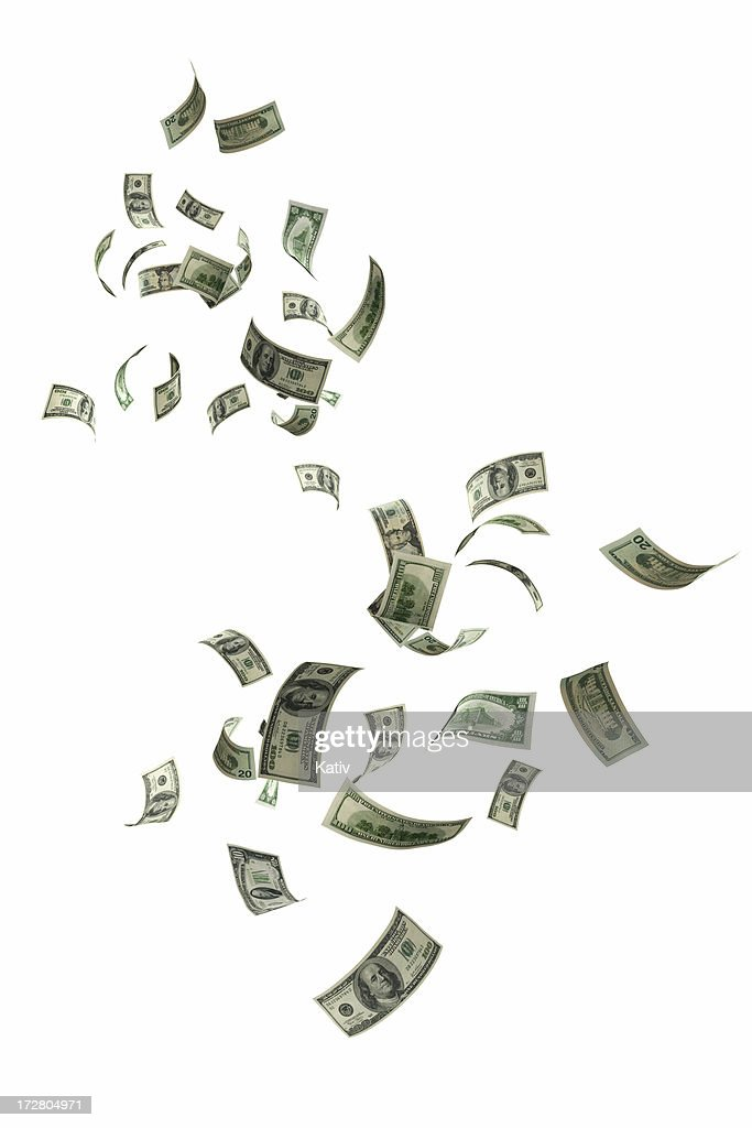 Money Falling : Stock Photo