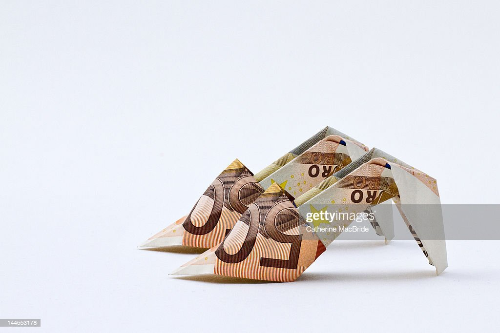 Money for shoes : Stock Photo