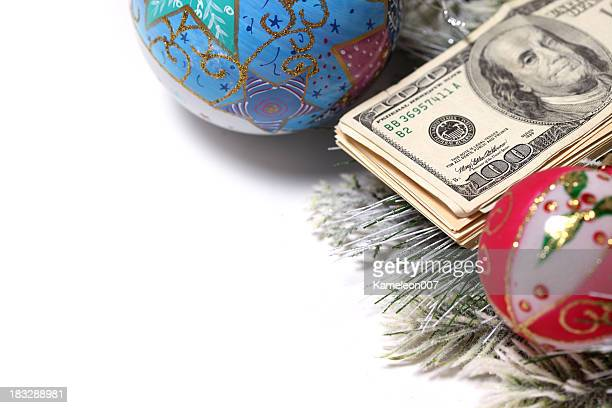money for the holliday - christmas cash stock pictures, royalty-free photos & images