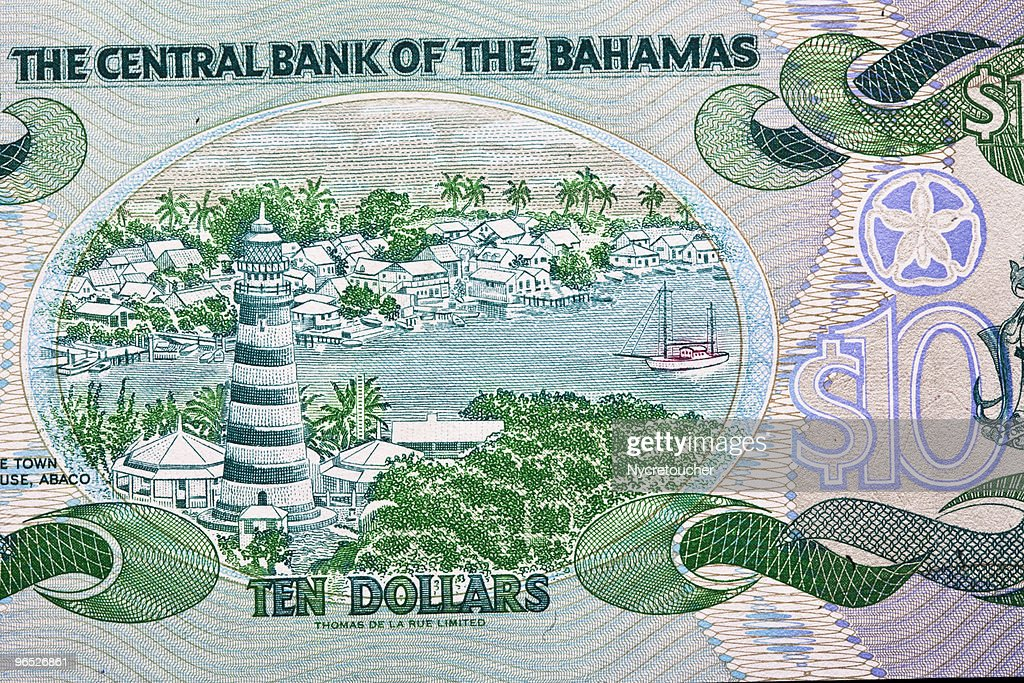 Money From The Bahamas Stock Photo