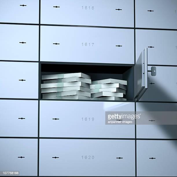 Money in a Safe Deposit Box or Bank Vault