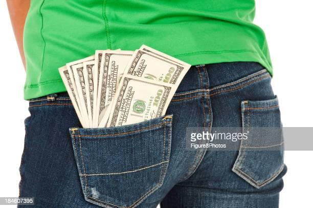 Money in back pocket