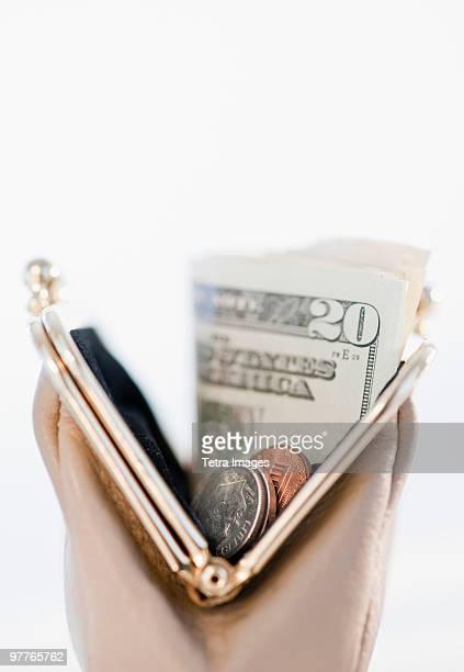 Money in change purse
