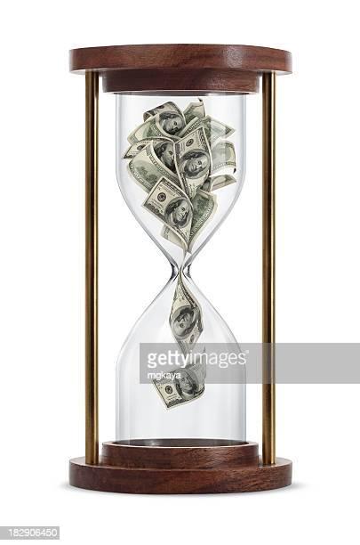 Money in Hourglass