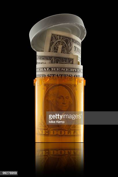 Money in prescription bottle