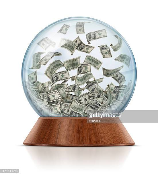 Money in Snow Globe