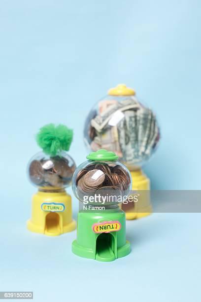 Money in Sweet dispensers