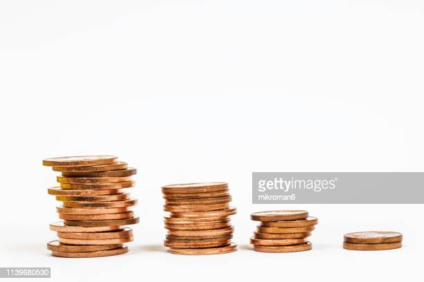 money incline or decline - decline stock pictures, royalty-free photos & images