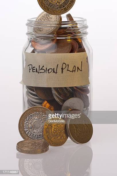 Money Jar British Pension Plan