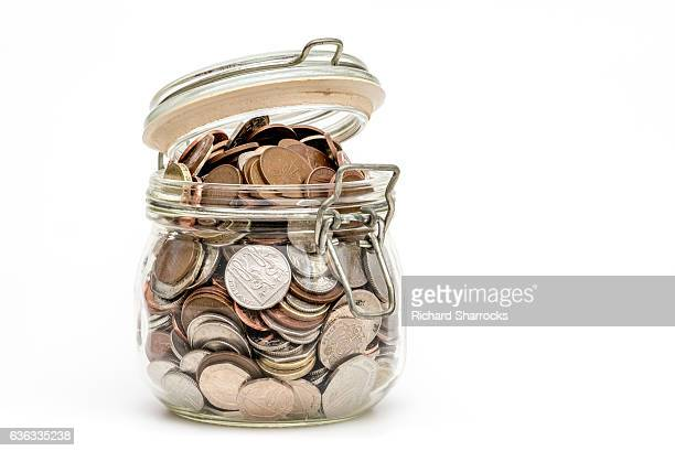 money jar - jar stock pictures, royalty-free photos & images