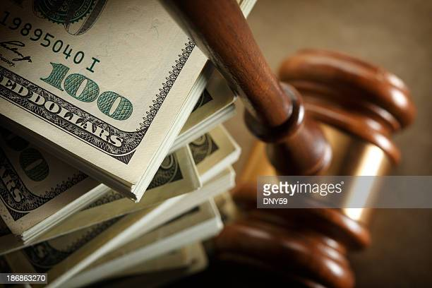 money & justice - gavel stock pictures, royalty-free photos & images