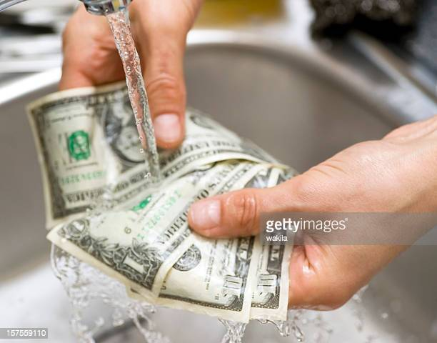 money laundering abstract in sink - geldwäsche - money laundering stock pictures, royalty-free photos & images